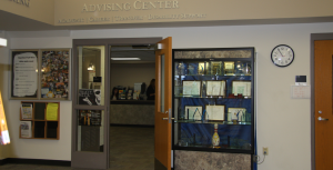 Advising Center located in the Osterlin Library on Main Campus.