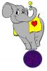 elephant balancing on ball