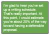 positive feedback on performance example