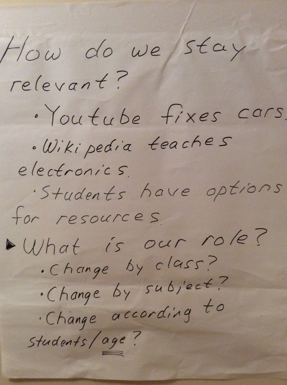 Instructor thoughts from Friday Forum