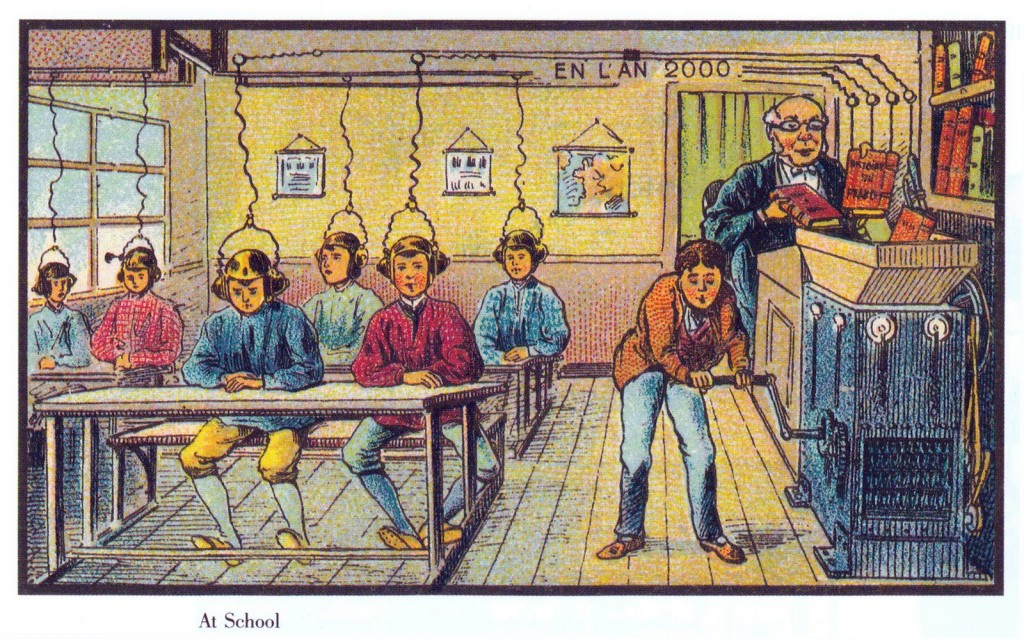 An image of an old French classroom.
