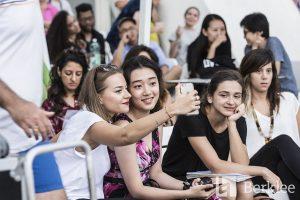 students taking selfie photo