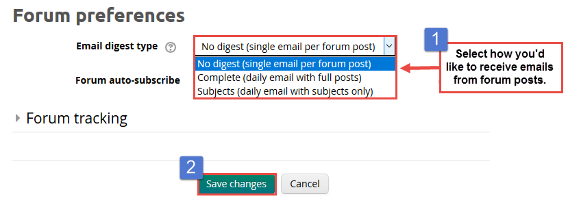 Select the email digest type that works best for you.