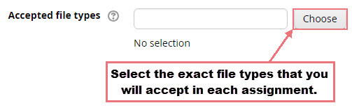 Select acceptable file types.