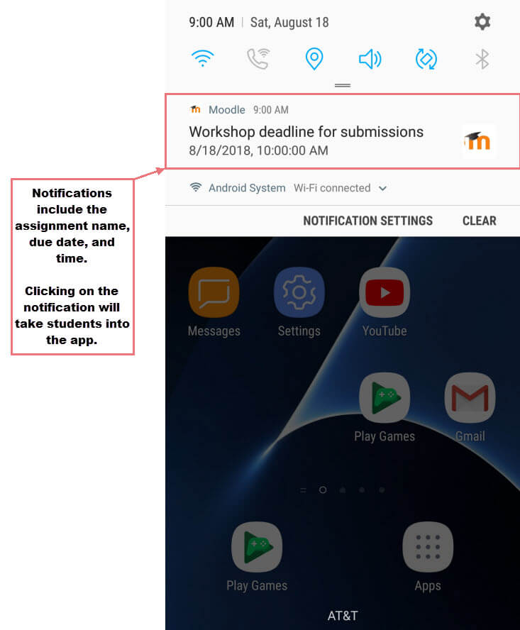 Mobile app notifications.