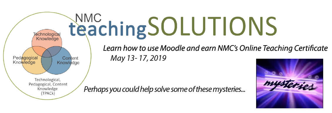 Earn your online teaching certificate and become more familiar with Moodle.
