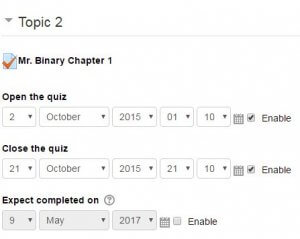 "Check ""Enable"" for each desired category and use drop down to change due dates."