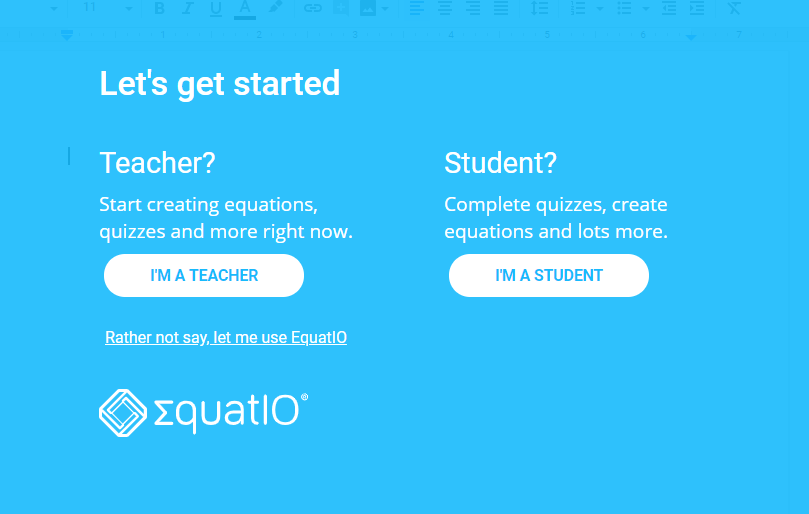 Attention:  Math & Science Instructors! New STEM Tools with EquatIO