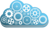 Cloud icon filled with gears