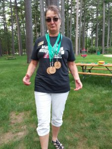 Rochelle with Osterlympic Medals