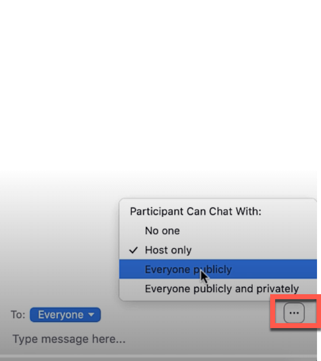 Zoom Chat Settings