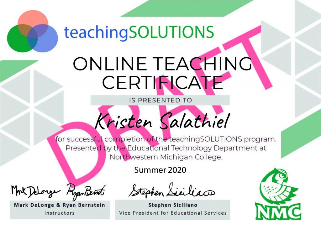 Online Teaching Certificate