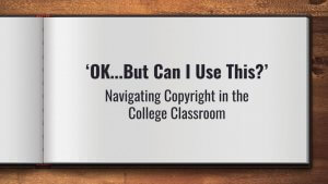 Image of presentation slide - OK but can I use this?