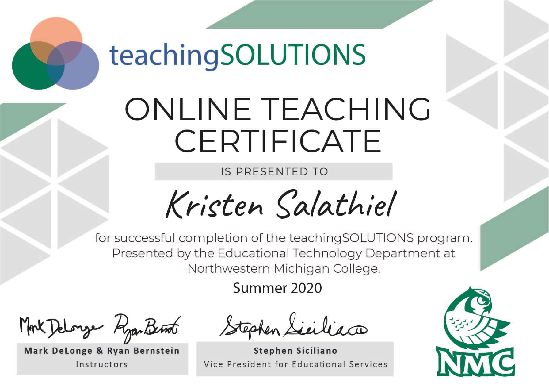 Online Teaching Certificates: Coming Very Soon